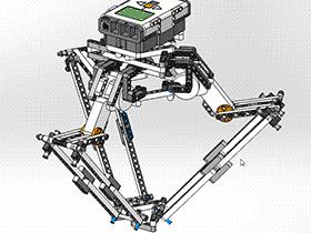 并联机械手 lego F606 RBAD2008 solidworks  3D图纸 三维模型