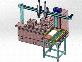 磨床机械手及自动上下料 RBAE2018 Solidworks 格式 3D图纸 三维模型