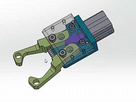 气动夹具钳 3D模型 RBBB1001 solidworks  3D图纸 三维模型