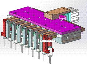电子元件机械臂夹具抓取机构 RBBB1003 solidworks  3D图纸 三维模型