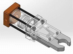 小型气动机械手爪 RBBB1006 solidworks 3D图纸 三维模型