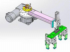 机械手抓举机构 RBBB1007 solidworks 3D图纸 三维模型