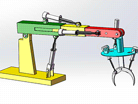 起重机机械手爪 RBBB1008 solidworks 3D图纸 三维模型