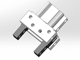 气动夹具 RBBB1010 solidworks 3D图纸 三维模型