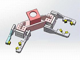 2位机械手 RBBB1012 solidworks 3D图纸 三维模型