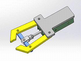 简易气动机械手 RBBB1013 solidworks 3D图纸 三维模型