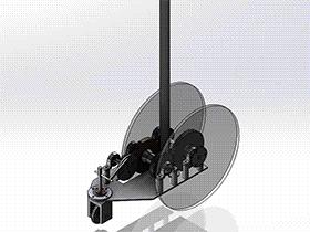 8字无碳小车设计图 带2D图 带设计文档 RBCD2002 solidworks  3D图纸 三维模型