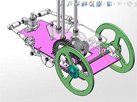 8字无碳小车设计图 带2D图 带设计文档 RBCD2003 solidworks  3D图纸 三维模型