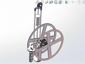 8字型无碳小车RBCD2004 solidworks  3D图纸 三维模型