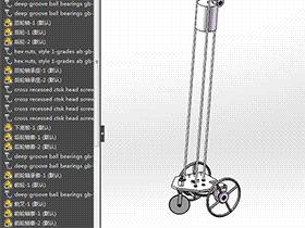 8字形无碳小车(凸轮实现)RBCD2005 solidworks  3D图纸 三维模型