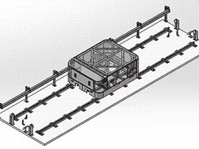 物流自动化必备RGV穿梭车 rbce1001 solidworks 3D图纸 三维模型