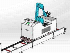 RGV小车(穿梭车)集成轨道式车载机器人超声清洗机 rbce2001 solidworks 3D图纸 三维模型