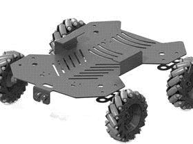 麦克纳姆轮车 rbcq1001 solidworks 3D图纸 三维模型