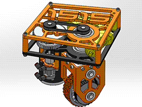 同轴转向钣金机器人系统 rbcq1002 solidworks 3D图纸 三维模型