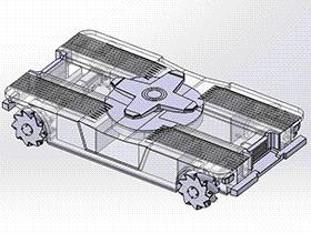 麦克纳姆轮式全向方位 rbcq1004 solidworks 3D图纸 三维模型