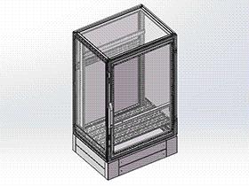 电柜16折型材机柜 SMAA1003 solidworks 3D图纸 三维模型