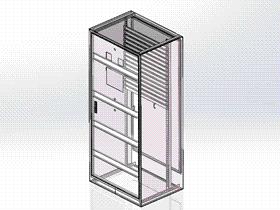 控制柜外壳1800机柜SMAA1004 solidworks 3D图纸 三维模型