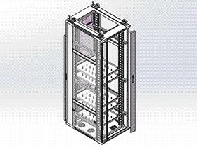 网络机柜SMAA1006 solidworks 3D图纸 三维模型