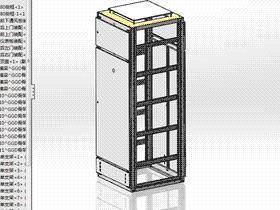 低压GGD开关柜机柜图 SMAA2001 solidworks 图纸 三维模型