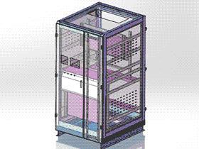 电柜机控制箱 SMAA2004 solidworks 图纸 三维模型