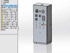 模拟负载台机柜 带工程图 SMAA2006 solidworks 图纸 三维模型