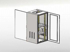 交通控制机柜 SMAA2008 solidworks 3D图纸 三维模型