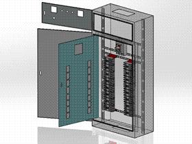 开关柜配电柜 SMAA2012 solidworks 3D图纸 三维模型