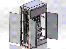 动力与变频器电气控制柜 包装线动力柜  SMAA2014 solidworks 3D图纸 三维模型