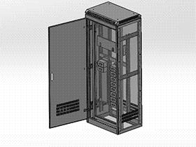1800X700X500-GGD电柜 带工程 SMAA2020 solidworks 3D图纸 三维模型