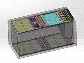 27U机柜 SMAA2021 solidworks 3D图纸 三维模型