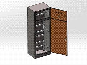 立式(配电柜)机柜 SMAA2022 solidworks 3D图纸 三维模型