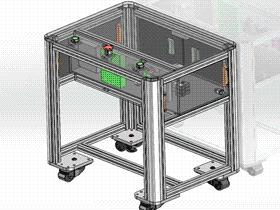 移动式电柜一体式电控箱 SMAC1003 solidworks  3D图纸 三维模型