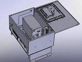 小型电箱 SMAC1005 solidworks  3D图纸 三维模型