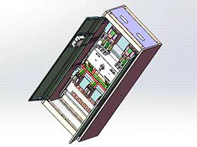 配电箱电气柜机箱柜钣金机柜 SMAD2001 solidworks 3D图纸 三维模型