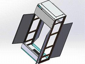 低压电气开关柜控制箱 SMAD2002 solidworks 3D图纸 三维模型