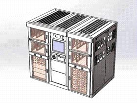 机柜全套图纸 SMAD2004 solidworks 3D图纸 三维模型