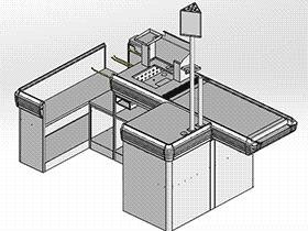 超市系列设备--电动收银台 smag2003 solidworks 3D图纸 三维模型