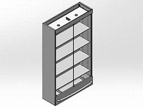 超市系列设备--高级酒柜 smag2004 solidworks 3D图纸 三维模型