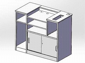 超市系列设备--化妆品收银台 smag2005 solidworks 3D图纸 三维模型