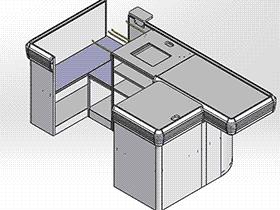 超市系列设备–收银台 smag2007 solidworks 3D图纸 三维模型
