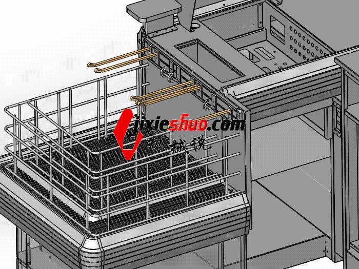 超市系列设备–收银台 smag2008 solidworks 3D图纸 三维模型