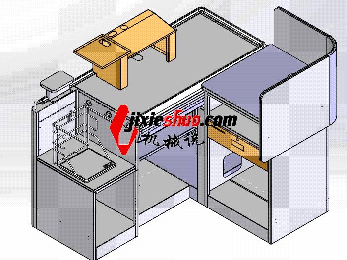 超市系列设备–收银台 smag2009 solidworks 3D图纸 三维模型