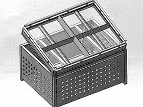 超市系列设备–蔬果架 smag2012 solidworks 3D图纸 三维模型