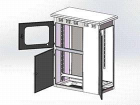 不锈钢户外箱体 SMAI2002 solidworks  3D图纸 三维模型