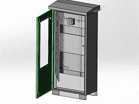 靠墙户外电控柜 SMAI2005 solidworks  3D图纸 三维模型