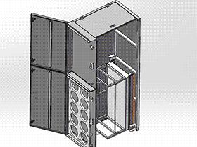 车载存放柜 SMAJ2001 solidworks  3D图纸 三维模型