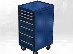 抽屉工具柜 SMAJ2002 solidworks  3D图纸 三维模型