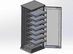 多层抽屉柜 带工程图 SMAJ2004 solidworks  3D图纸 三维模型