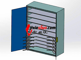 工具柜  SMAJ2006 solidworks  3D图纸 三维模型