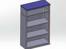 简易工具柜  SMAJ2007 solidworks  3D图纸 三维模型